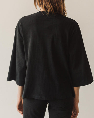 Kowtow Funnel Neck Top, Black
