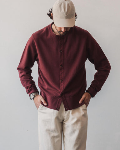 Universal Works Button Front Crew, Raisin