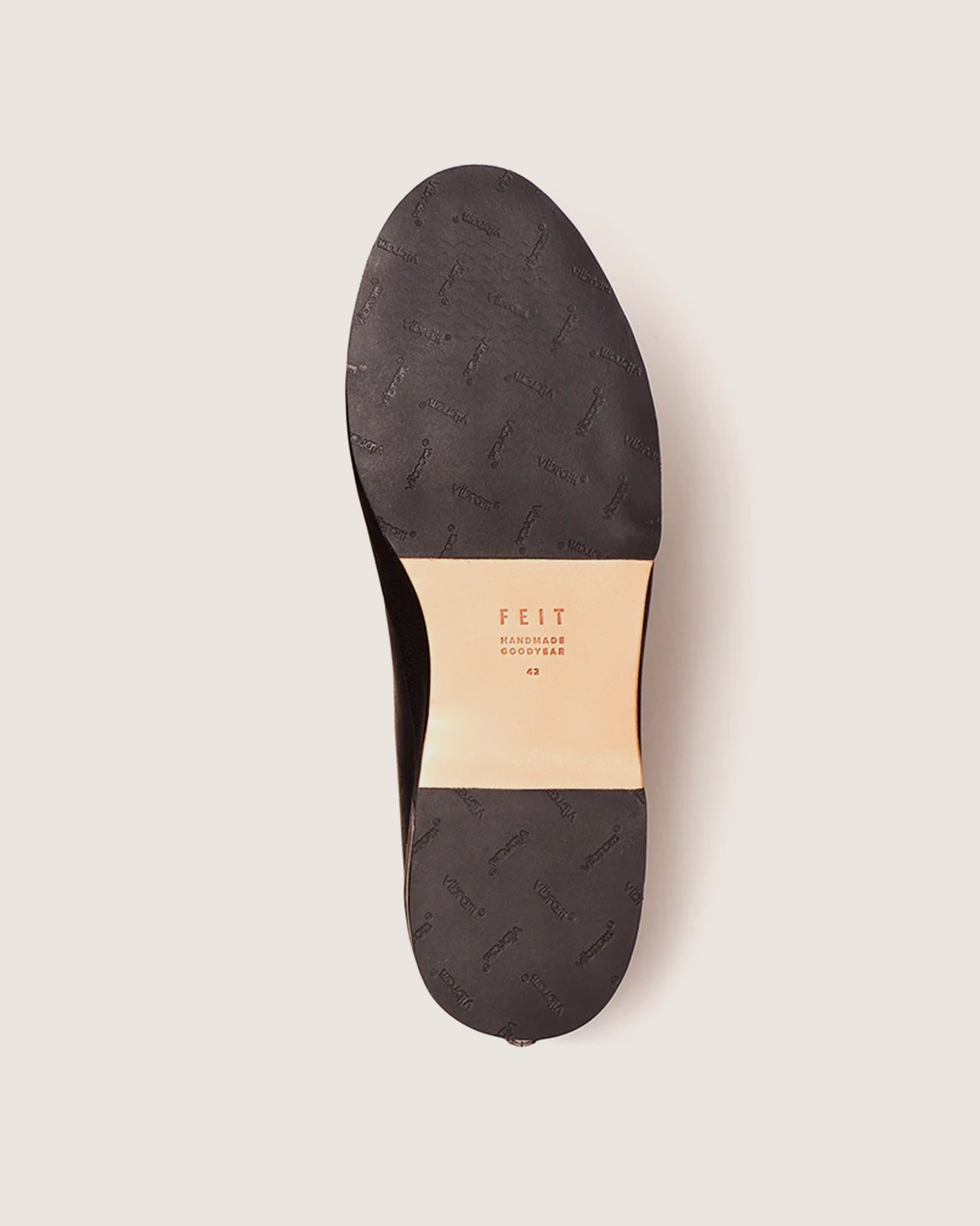Feit Hand Sewn Low Rubber Black, Men's