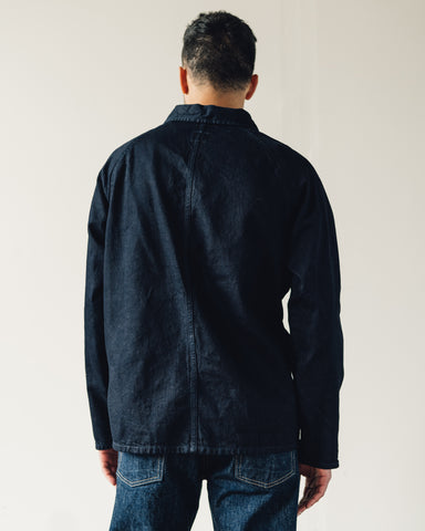Arpenteur Raglan Denim Jacket, Black Indigo