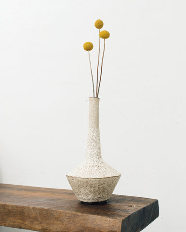 Ayame Bullock Bone Long Neck Vase