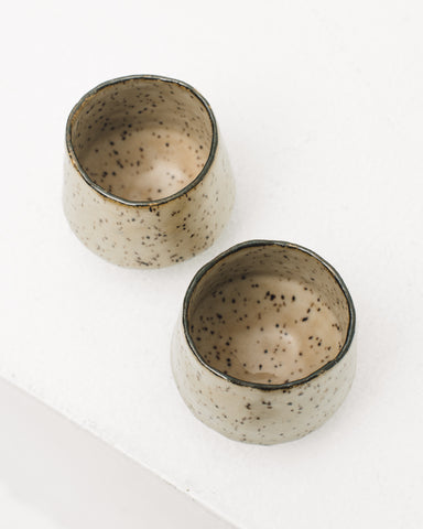 Ayame Bullock Brown Speckled Cups