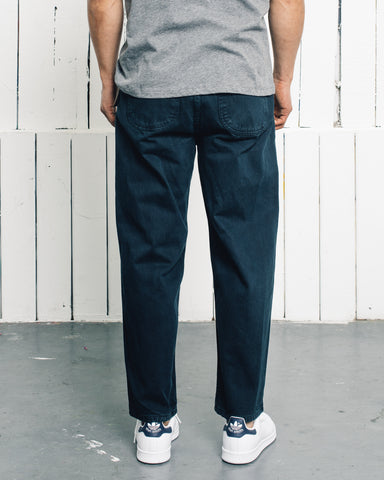 Older Brother Denim Five Pocket Pants, Black Indigo