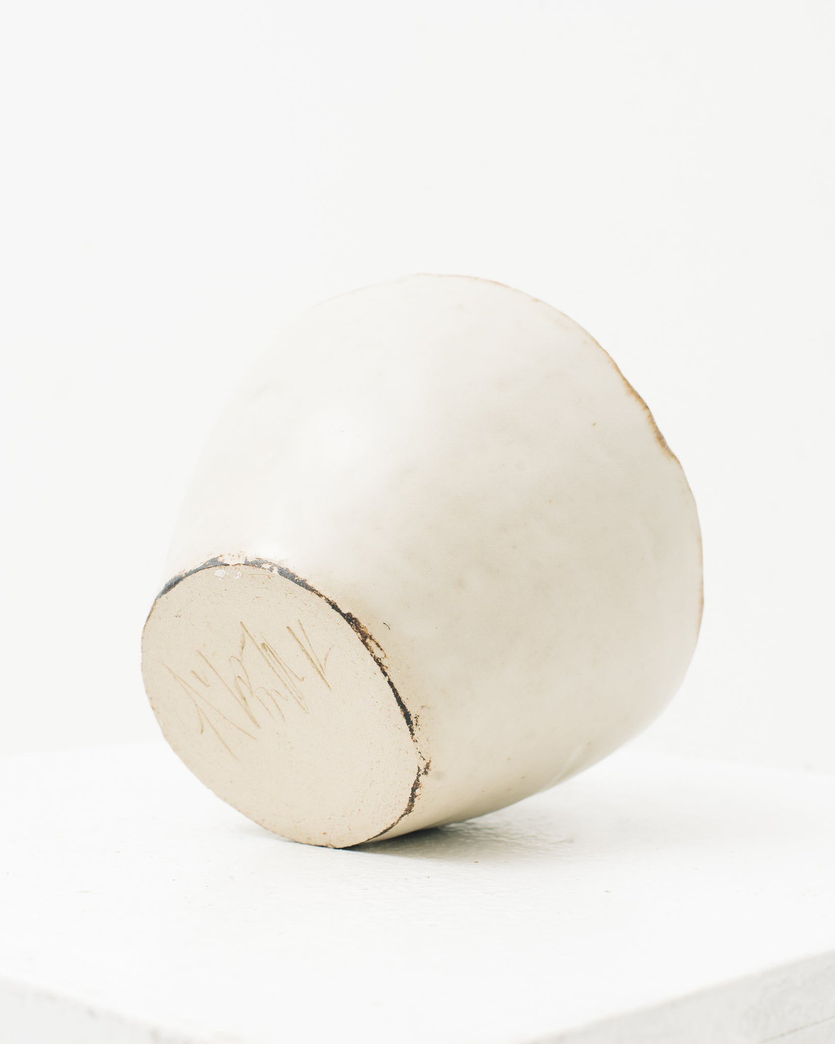 Ayame Bullock White Antique Orbit Vase