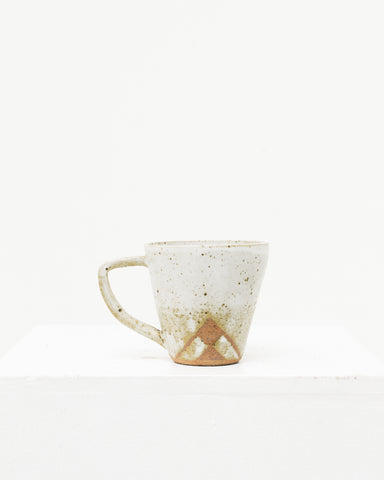Ayame Bullock White Speckled Totem Mugs