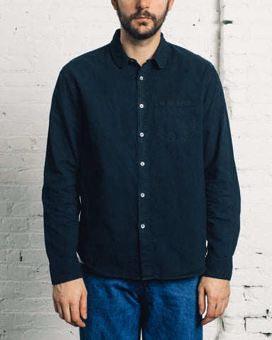 Older Brother Classic Shirt in Black Indigo