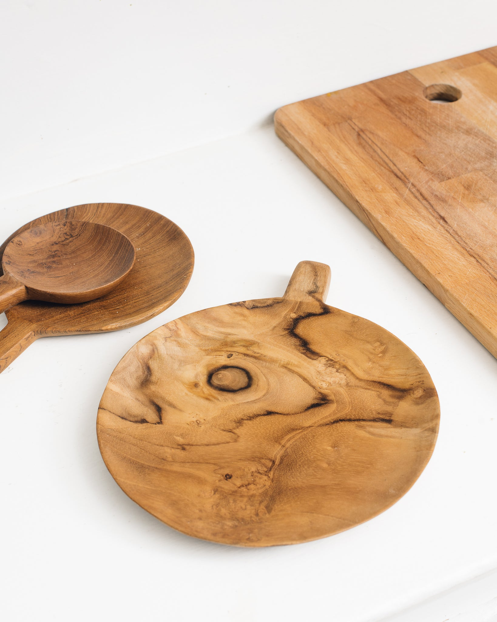 Teak Wood Paddle Tray