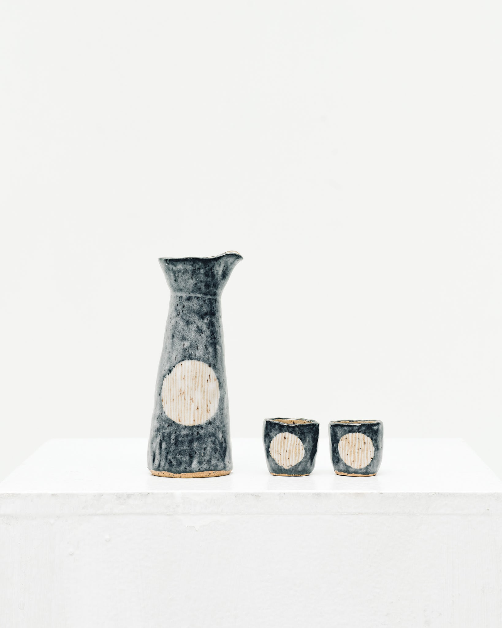 Ayame Bullock Indigo Blue Moon Tiny Sake Set