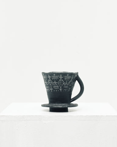 Ayame Bullock Black Mudcloth Single Pourover