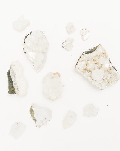 Crystals, Zeolite Specimens, Assorted White