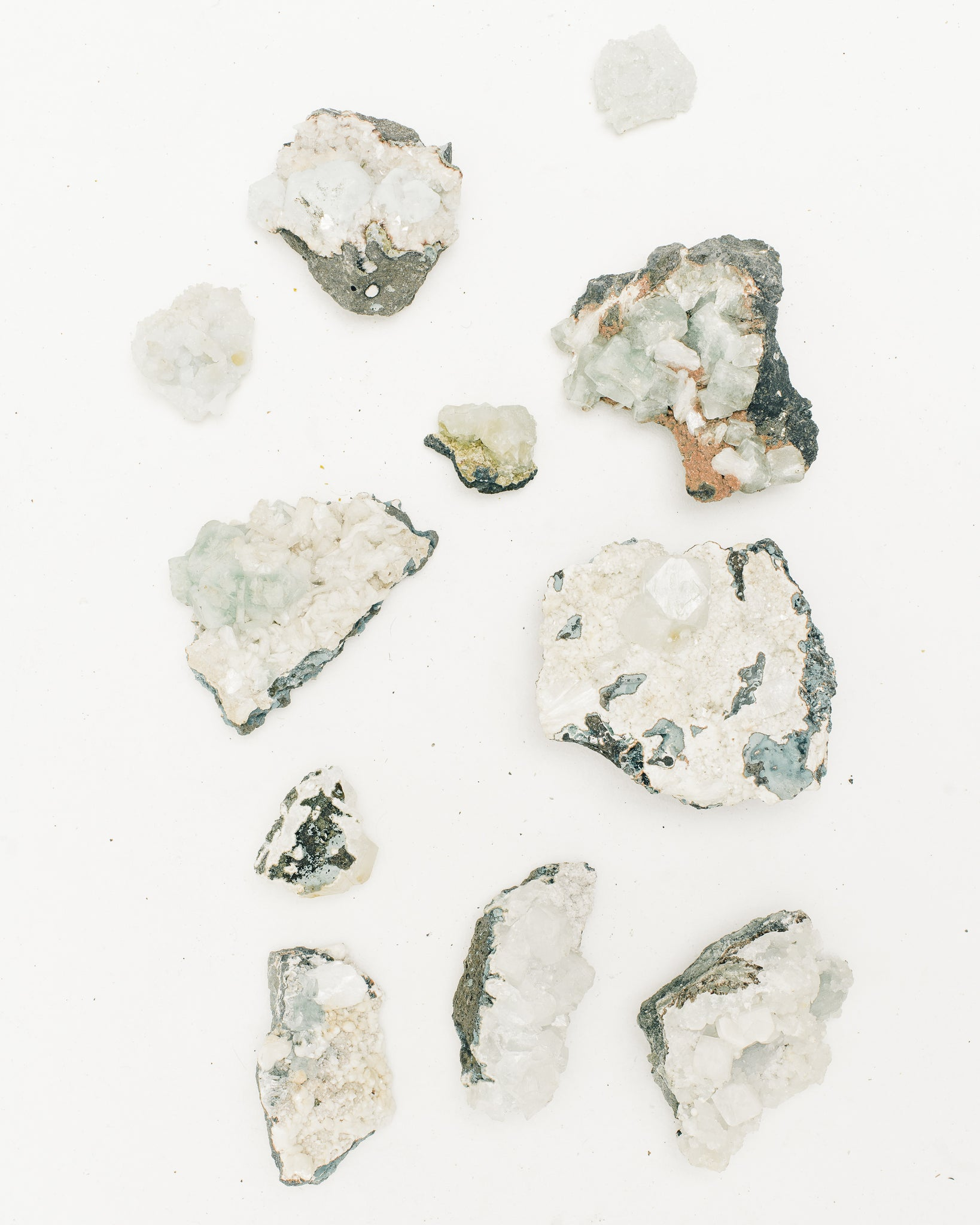 Crystals, Zeolite Specimens, Assorted Blues