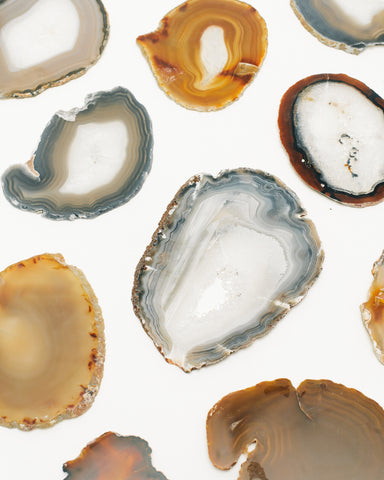 Crystals, Agate Slices