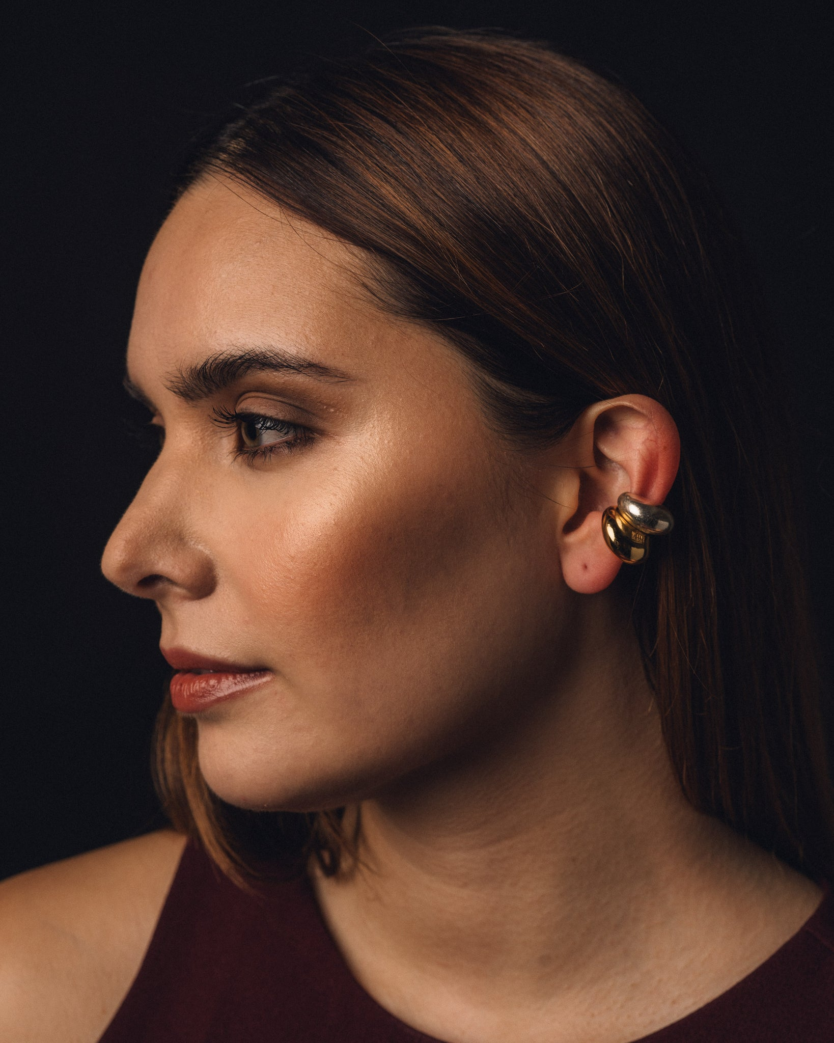 Hernan Herdez Puffy Ear Cuff, 18k Gold Plated