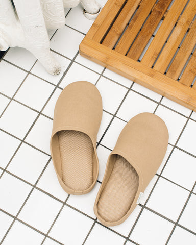 Sasawashi Room Shoes, Camel