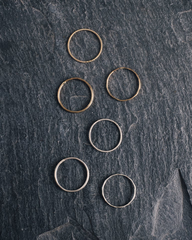FT Silver Stacking Ring