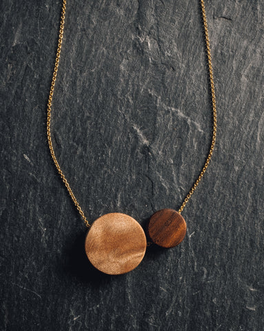Rou Jewelry Two Moons Necklace
