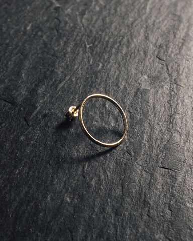 Mirta Gold Circle Earrings, Single