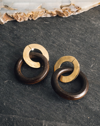 Luiny Wood Ring Earrings