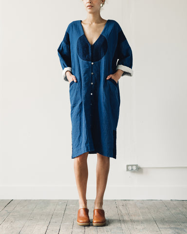 Delphine Gillian Coat, Patchwork Indigo