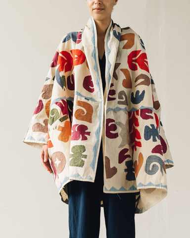Delphine Embroidered Haori Coat, Faded