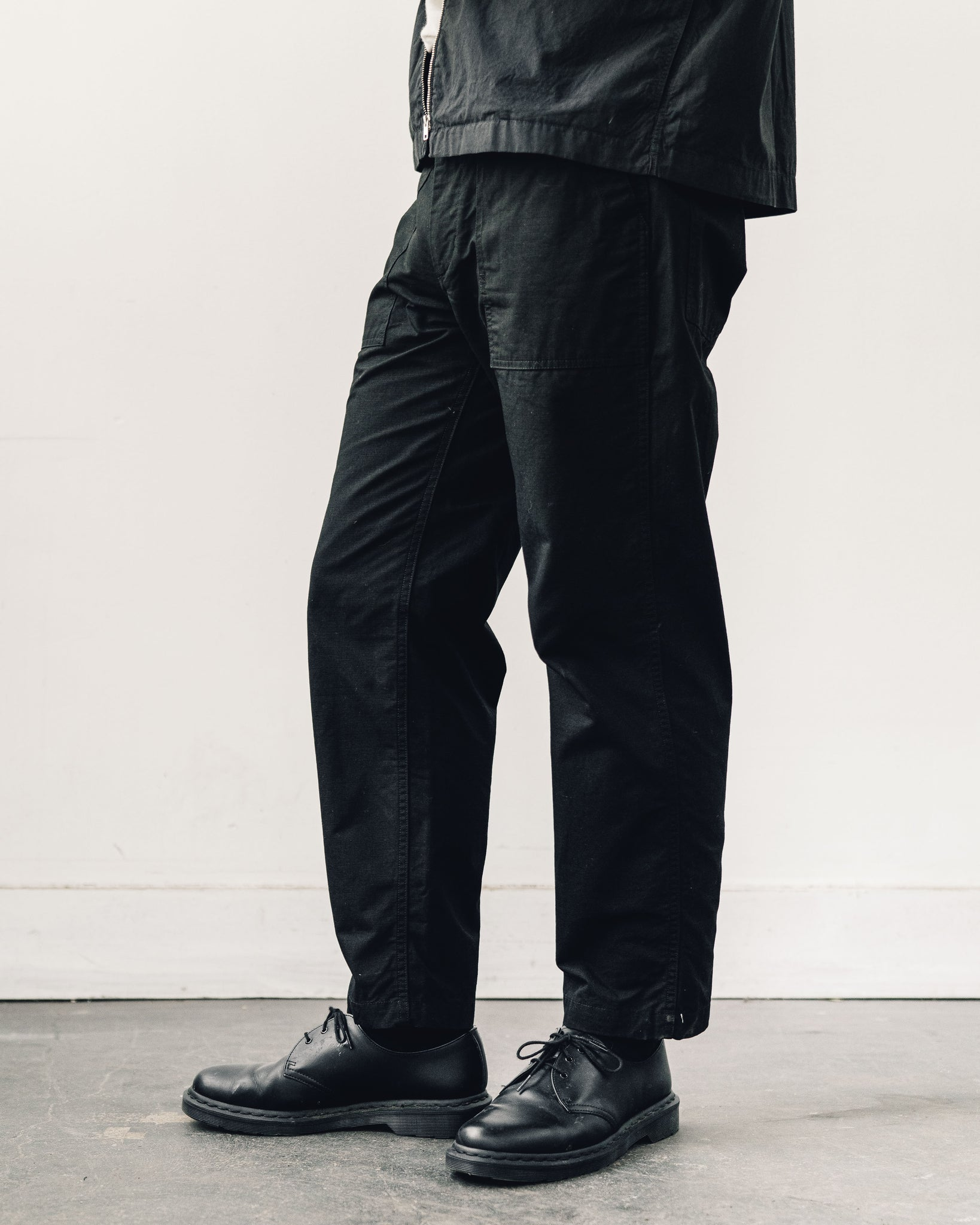 Engineered Garments Ripstop Fatigue Pant, Black