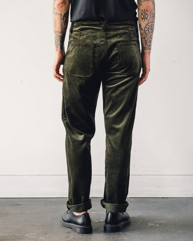 Evan Kinori Four Pocket Pant, Dark Olive Corduroy