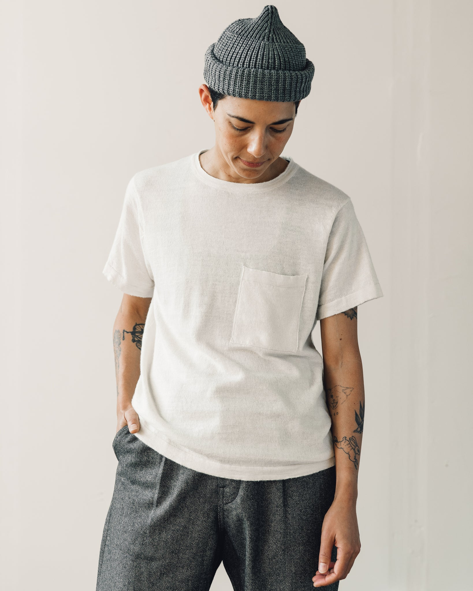 Evan Kinori Pocket Tee Sweater