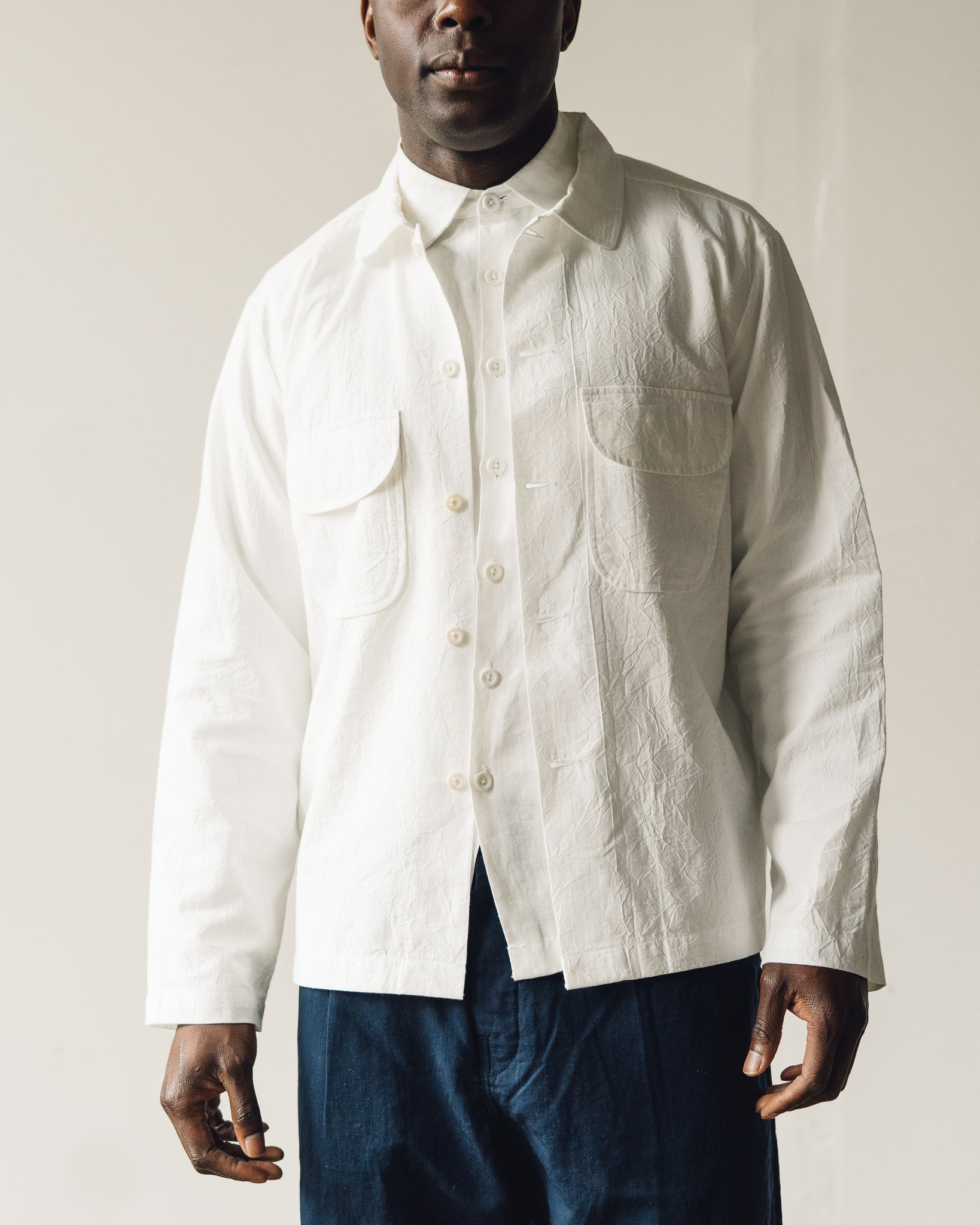 Evan Kinori Field Shirt, White