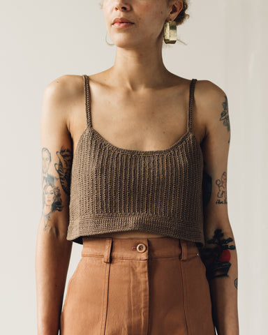 First Rite Crochet Crop Top, Cocoa