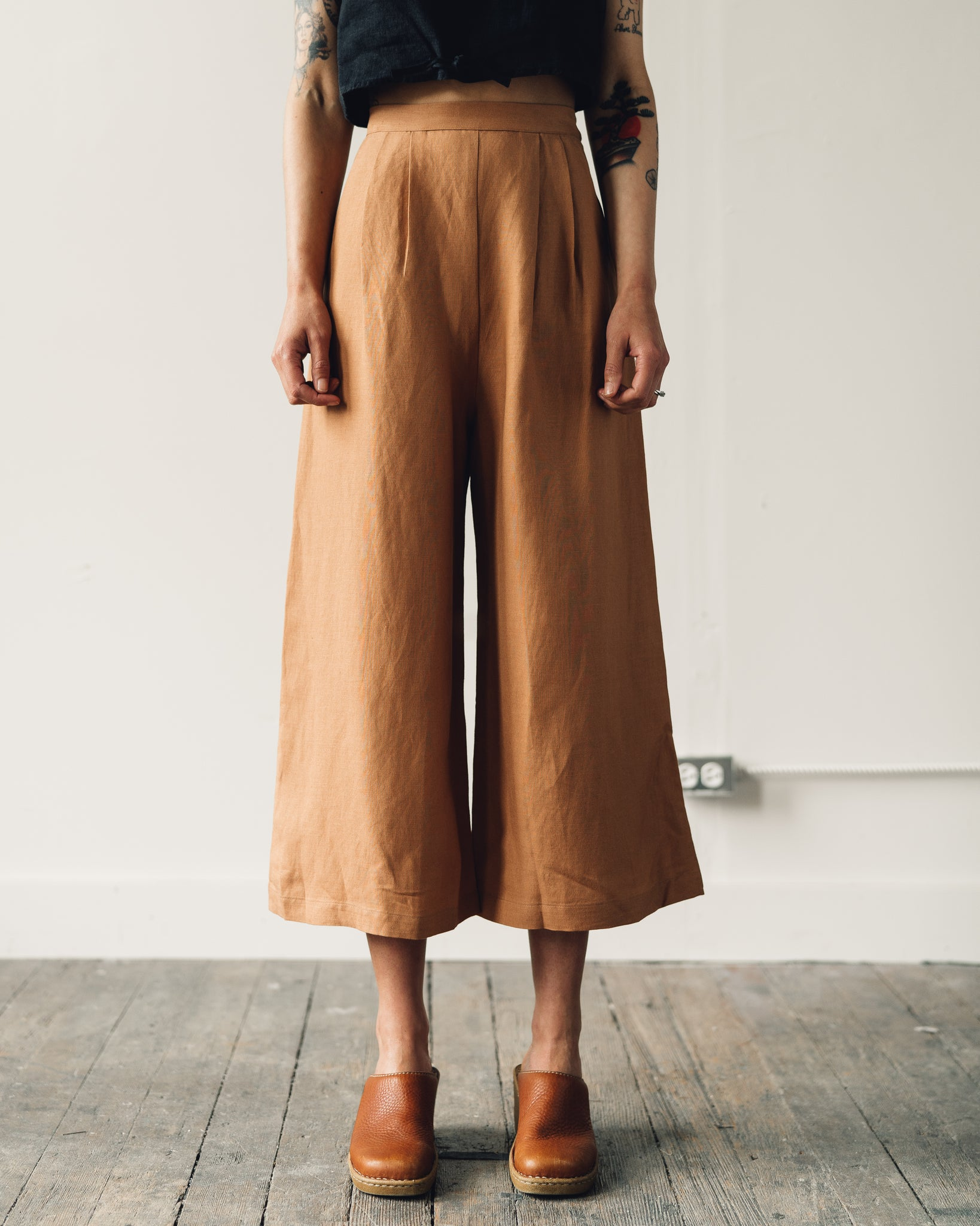 First Rite Crop Culotte, Sahara