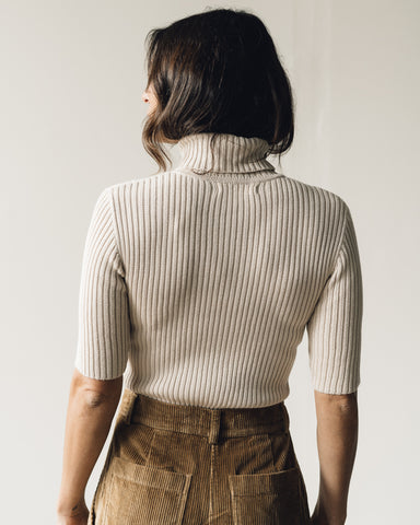 First Rite Rib Turtleneck, Natural