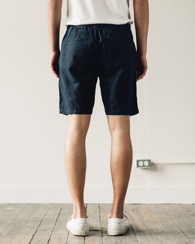 Folk Cotton Linen Short, Summer Navy