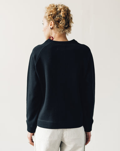 Folk Multi Stitch Sweat, Black