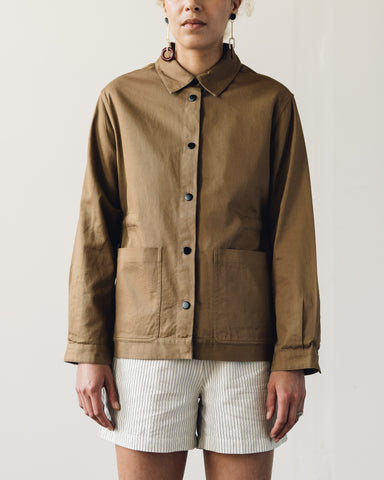 Folk Painter's Jacket, Caramel Twill