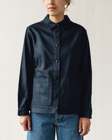 Folk Painter's Jacket, Navy Twill