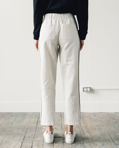 Folk Draw Pant, Ecru Black Stripe
