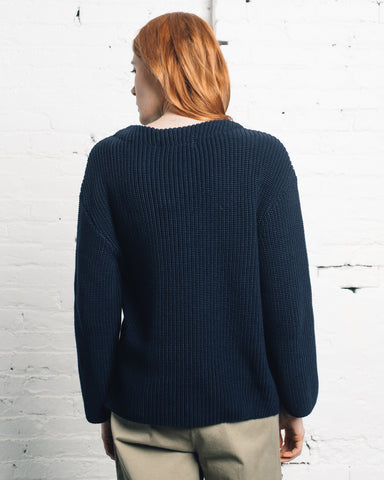 Norse Projects Hanne Heavy Sweater, Dark Navy