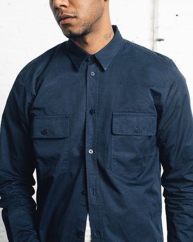 Norse Projects Villads Light Twill Shirt, Navy