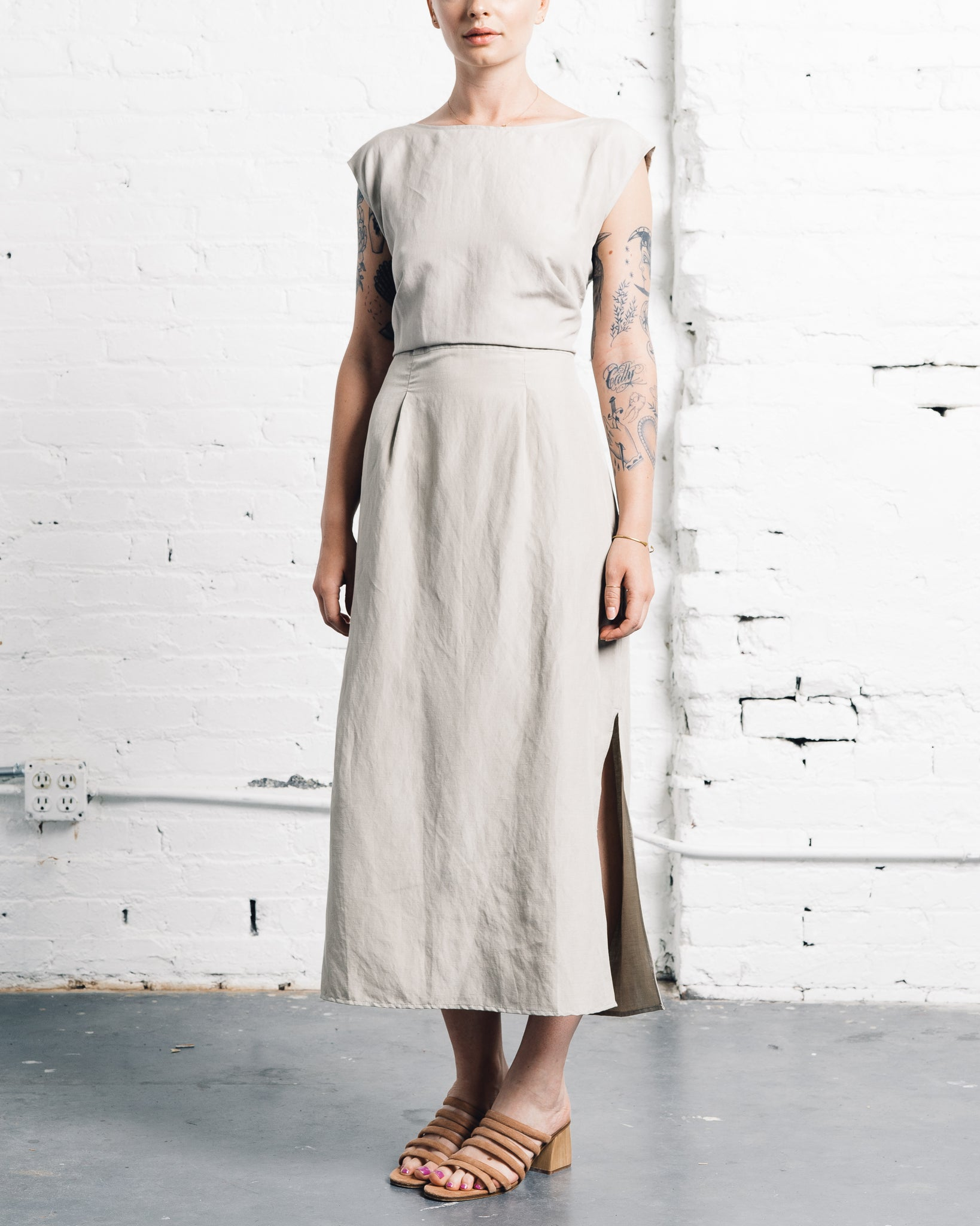 Ozma La Piedra Dress, Stucco