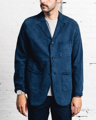 Kapital High Density Hobo Jacket, Navy