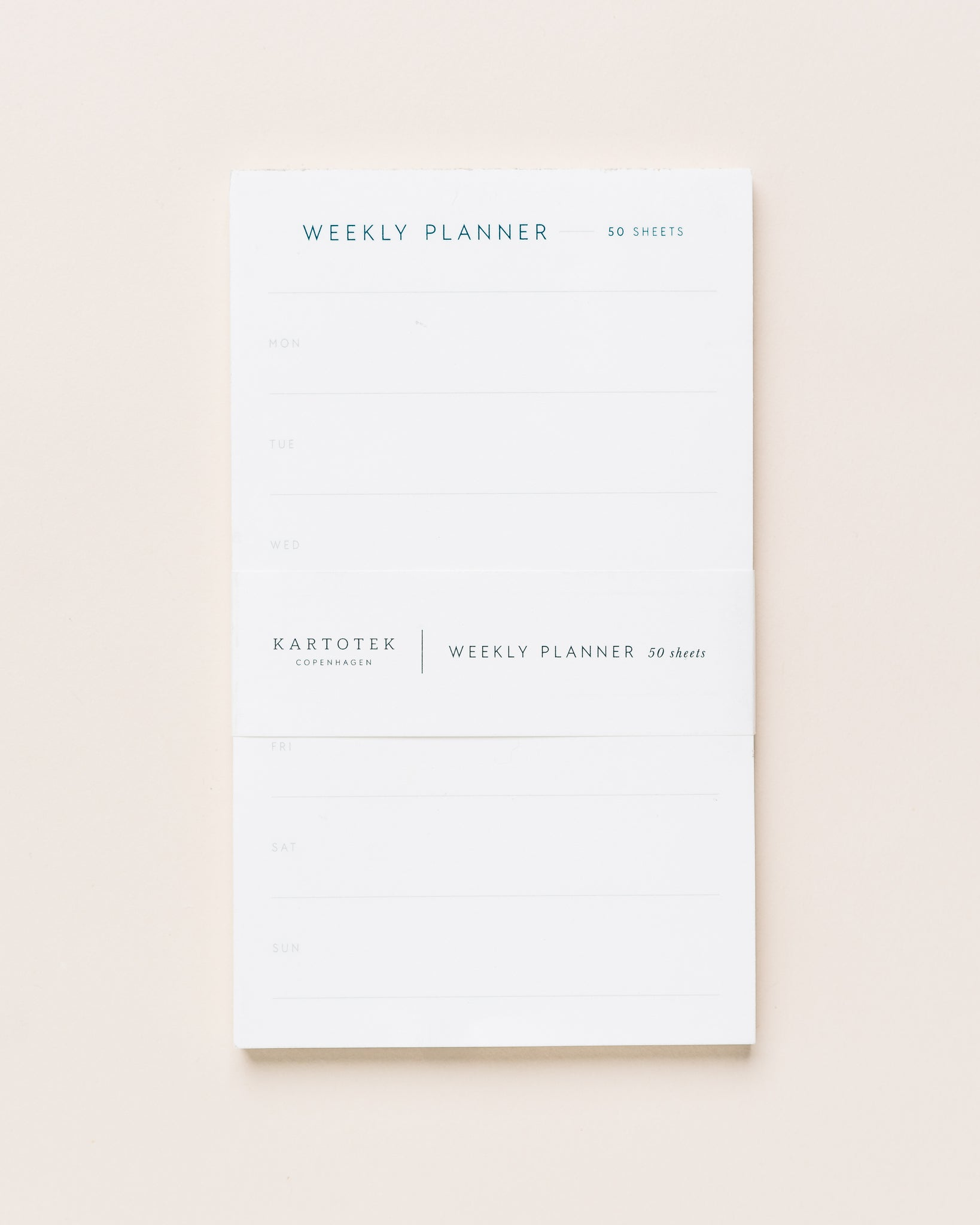 Kartotek Weekly Planner Notepad, Small