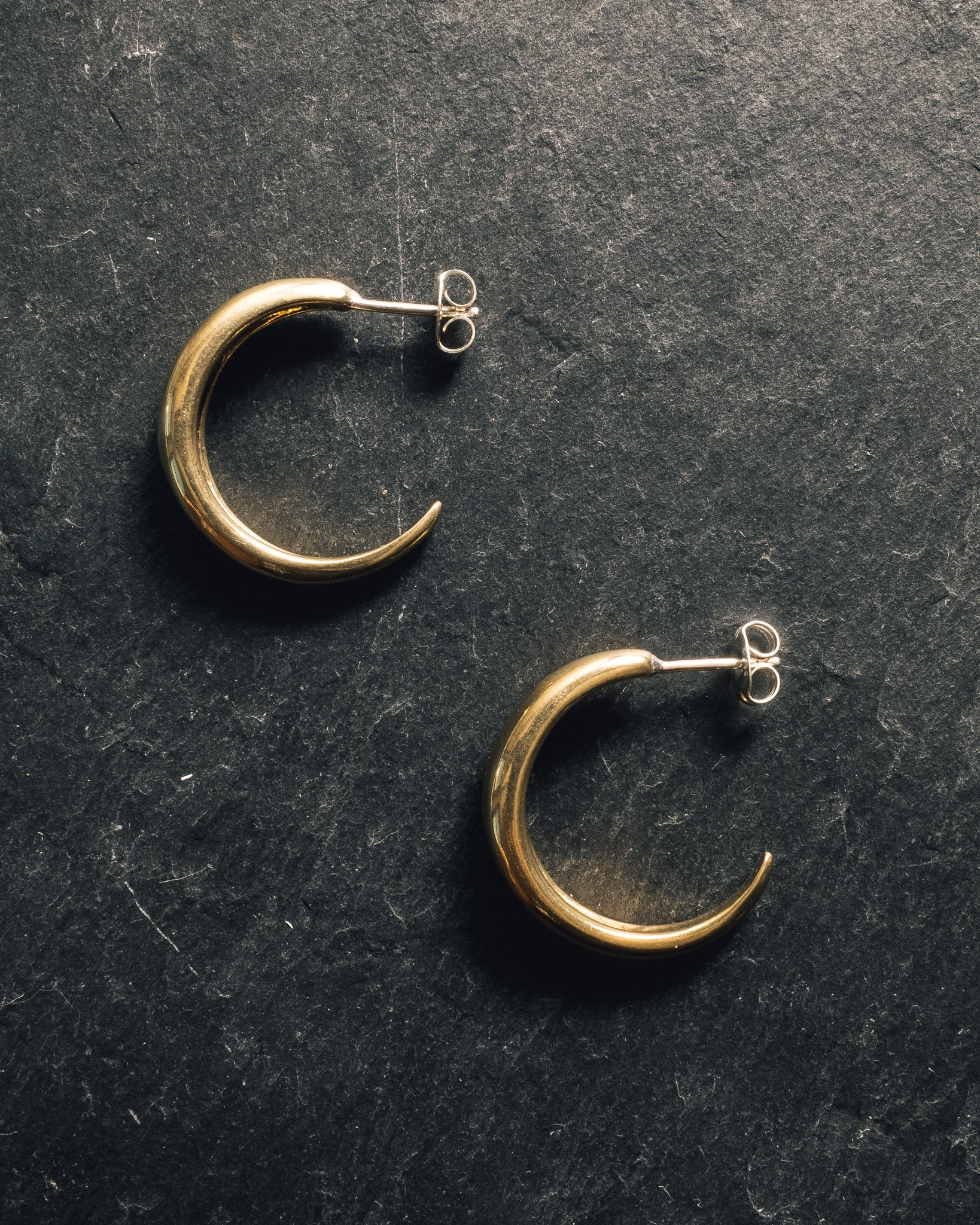 Another Feather Dorsal Hoops, Bronze