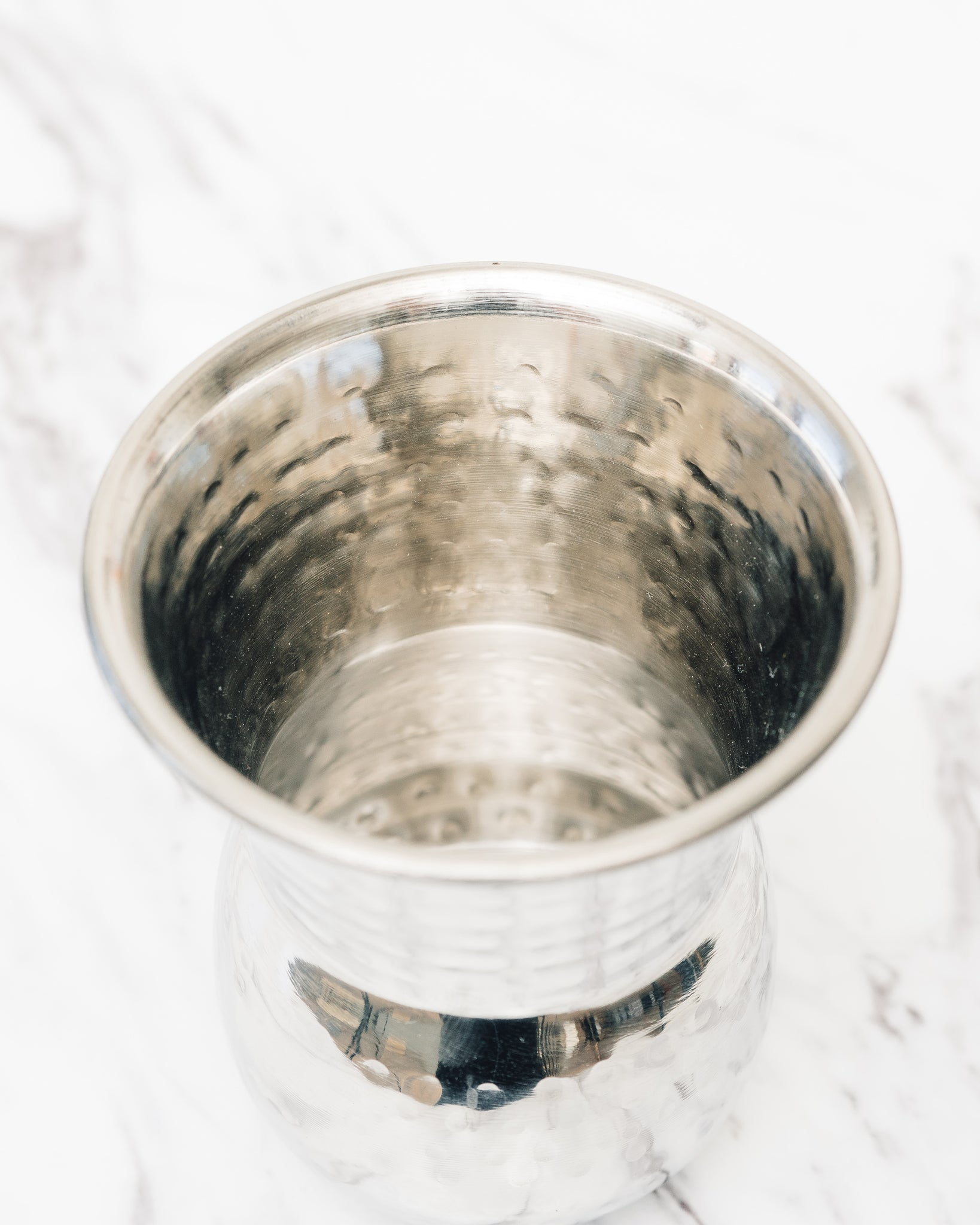 Stainless Steel Tumbler, Moroccan Hammered