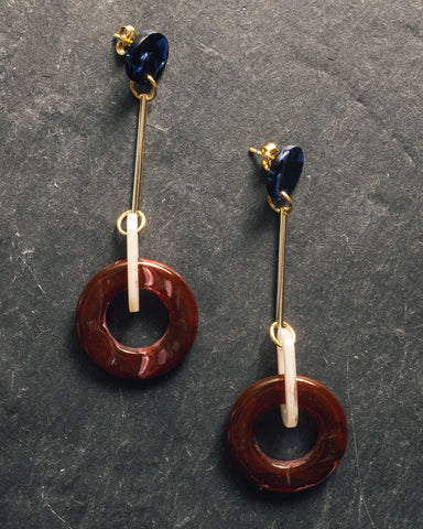 iuo Jewelry Sphere Earrings, Wine
