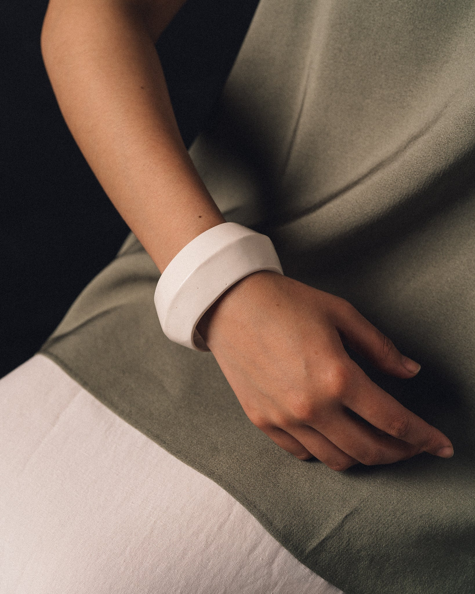 Arc Objects Porcelain Tomorrow Bangle