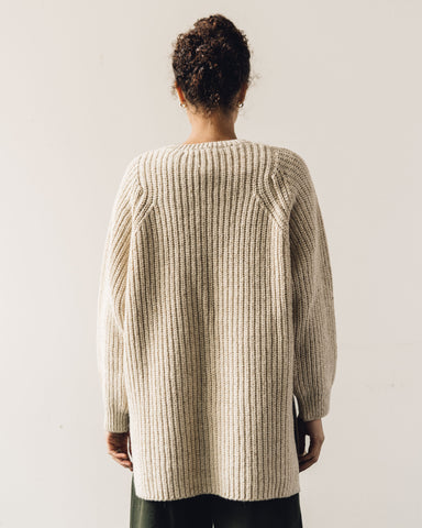 Mónica Cordera Chunky Soft Wool Sweater, Natural