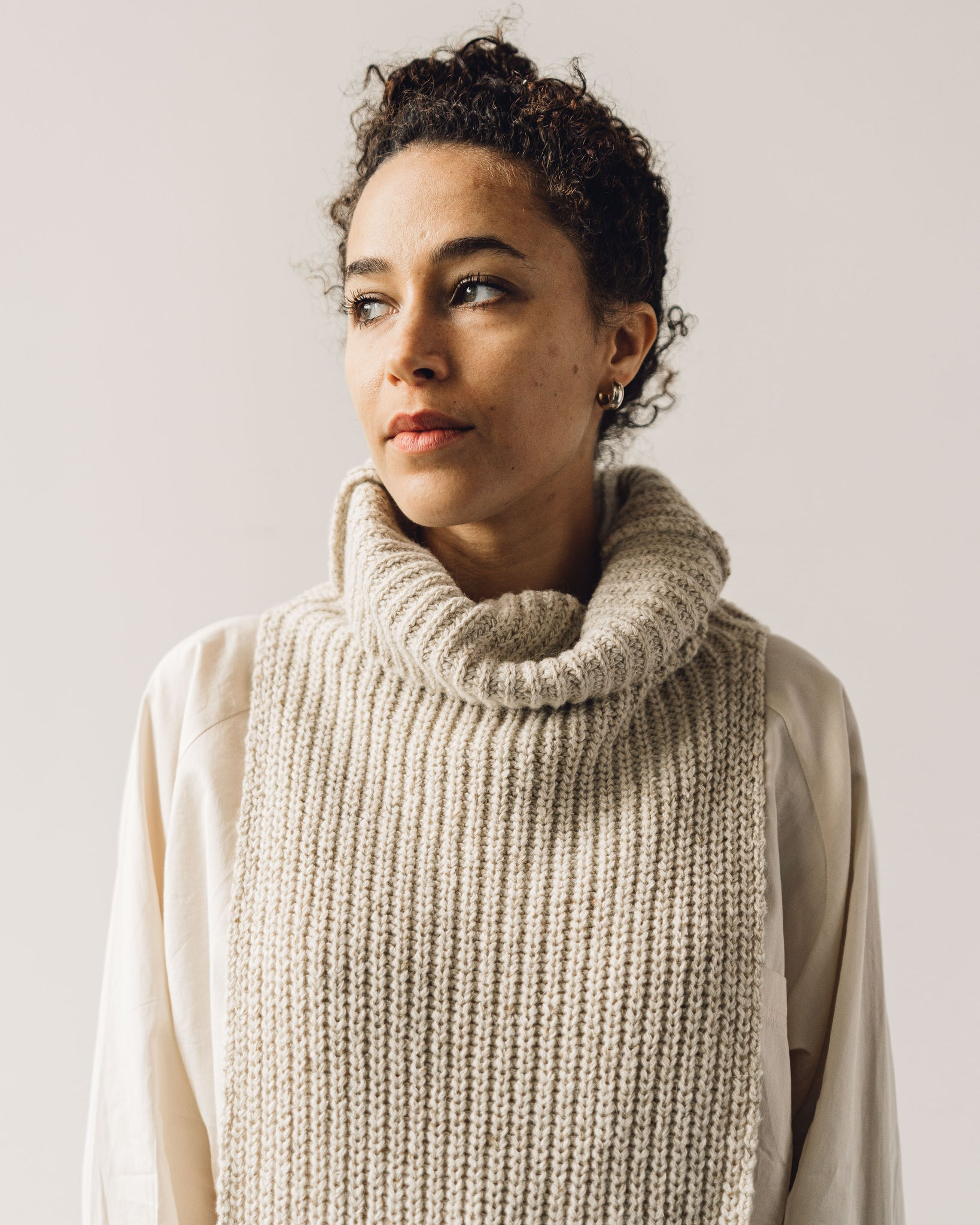 Mónica Cordera Chunky Soft Wool Collar, Natural