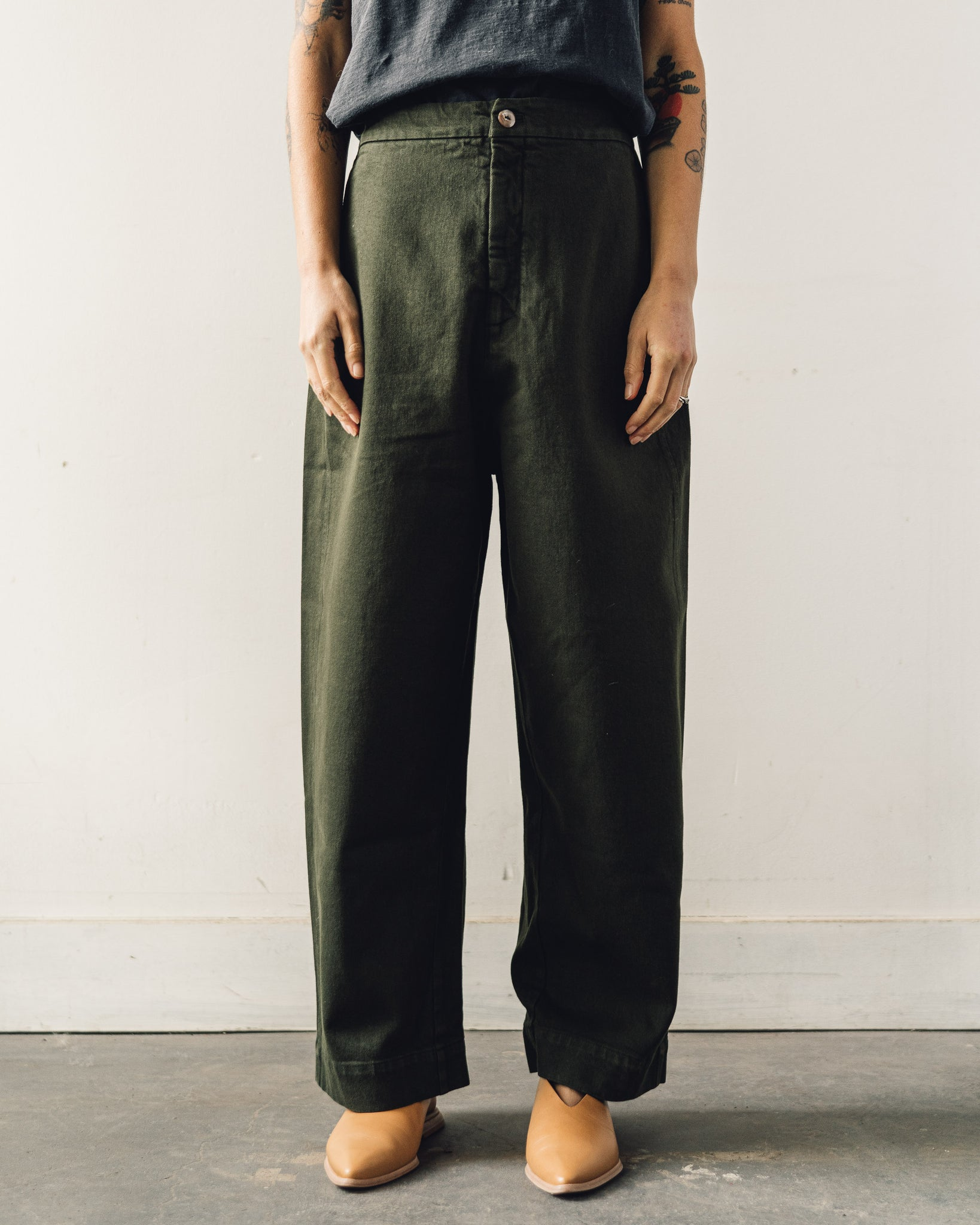 Mónica Cordera Chunky Cotton Pants, Green