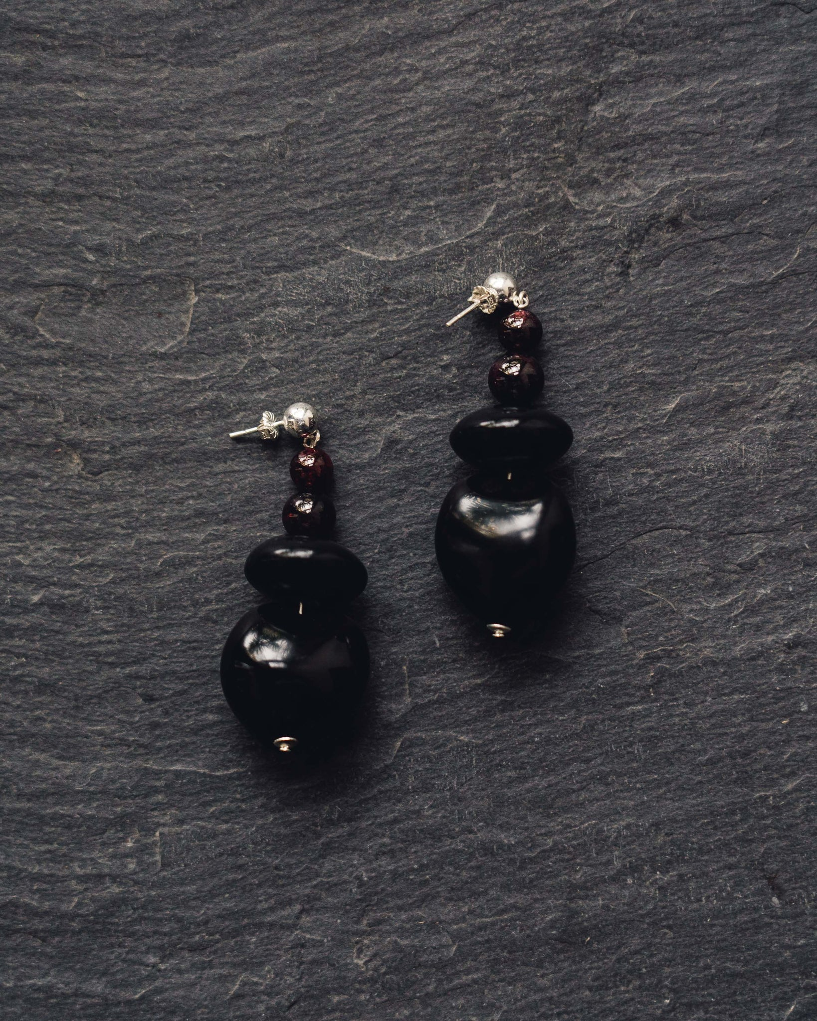 Rou Jewelry Noir Orb Earrings