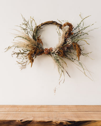 Grapevine Wreath, Dusty